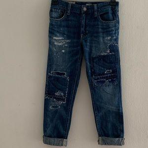 Polo Ralph Lauren Girl's Distressed Denim Jeans